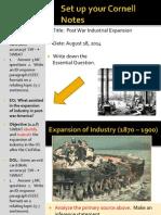 WEBNOTES - Day 1 - 2014 - PostWarIndustrialization