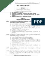 Reglamento de Tesis - Escuela de Posgrado