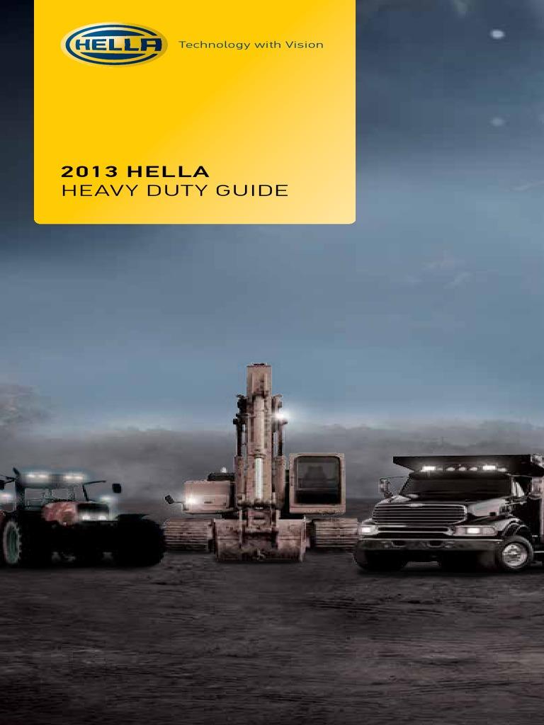 Catalogo Faros Hella 2013 Heavy Duty Headlamp Light Emitting Diode Freightliner Flb Main Cab Wiring Harness Connectors Diagram
