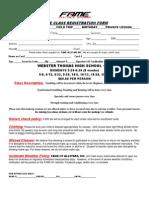 class registration form webster thomas hs