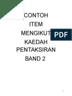 Contoh Item Kaedah Pentaksiran Band 2