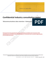 Australia AG - Confidential Industry Consultation Paper on Telecommunications Data Retention