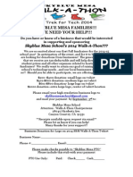 Parent Donation Flyer