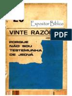 20 Razões Porque Não Sou Testemunha de Jeová - Amilto Justus