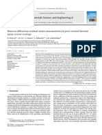 Neutron Diffraction Residual Strain Measurements in Post Treated Thermal Spray Cermet Coatings 2008 Materials Science and Engineering A