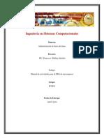 Manual de Actividades de Un SGBD en Una Empresa