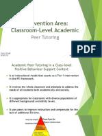 intervention area - peer tutoring