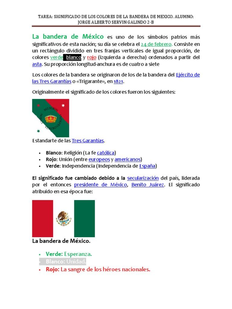 tres colores dela bandera de mexico