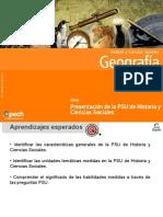 Clase 1 Presentacion de La PSU de Historia y Ciencias Sociales