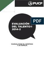 Manual Para El Admitido y Su Familia - Evaluación Del Talento 2014-2(1)