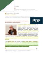 Conferencia Inaugural Nestor Garcia Canclini