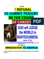8/3/08 MY REFUSAL TO COMMIT PERJURY IN THE COURT OF CHRIST by vanderKOK