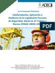 Interpretacion, Aplicacion y Auditoria de La Legislacion Peruana de Seguridad, Salud en El Trabajo y Norma OHSAS 18001