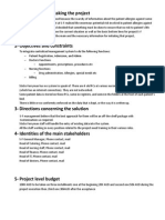 S-f Modernisation Project Charter