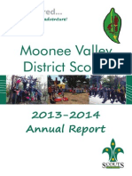 Moonee Valley District Scouts - Annual Report 2013-2014
