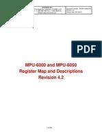 MPU6000A - Register Map