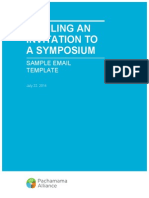 Sample Symposium Email Invitation