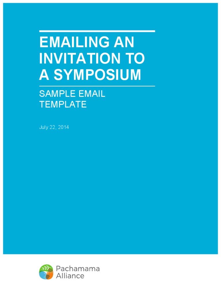 sample symposium email invitation communication
