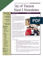 Ward 5 August 2014 Newsletter
