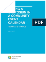Listing a Symposium in a Community Calendar