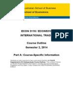 ECON3116 5316 International Trade PartA S22014
