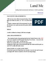 Land Measurements