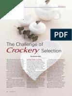 The Challenge of Crockery Selection