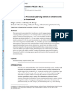 Sequence_specifc Procedural Learning Deficits in Children With Specific Lanfuage Impairment