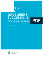 Facilitator Training Guidelines and Suggestions