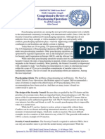 GUNERI - Comprehensive Review of Peace Keeping Operations