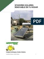 Calentadores Solares Energ A
