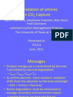 Degradation of amines in CO2Capture