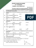 Model Question Paper - Mathematics SSLC 2014-15