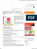 Preparation of Cash Flow Statement