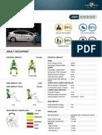 Toyota Prius EuroNCAP