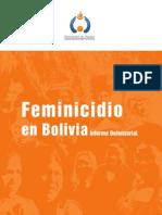 01 Feminicidio en Bolivia