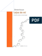 Clement Rosset Lejos de Mi