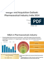 Merger and Acquisition Outlook of Pharmaceutical Industry india 2014