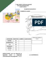 Examen de Diagnostico 2014-2015 4º