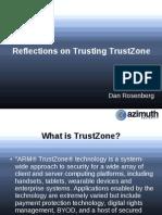 Us 14 Rosenberg Reflections on Trusting TrustZone
