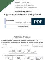 2. Termoquímica II - Potencial Químico y Fugacidad - 2014 III
