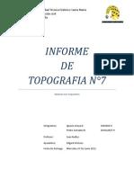 Informe Topografia N°7