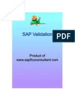 SAP Validation