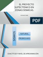 El Proyecto Arquitectónico en Zonas Sísmicas