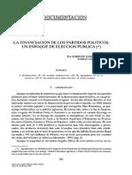 García - Vazquez (1996) La Financiación de Los Partidos Polìticos. Un Enfoque de Elección Pública REPNE_092_278