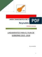 Plan de Gobierno UDN