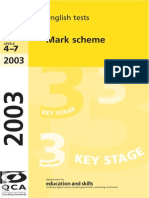 KS3 2003 Marking-scheme