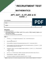 9-Apt,Sat-II,Iit&Io Maths Paper i