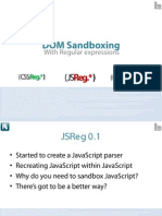 DOM Sandboxing with Regular Expressions