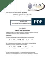 PRACTICA Cinetica Del Sitema Perdisulfato-yoduro.